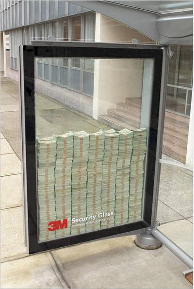 ガラスの広告