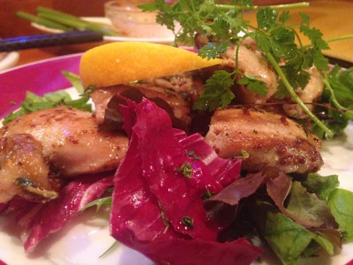 鶏のパリパリマスタード焼き