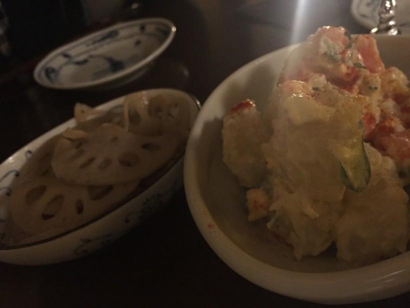 OBANZAIYA 喜月 ポテトサラダとれんこんのきんぴら
