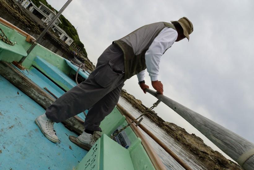 仁右衛門島 手漕ぎボート