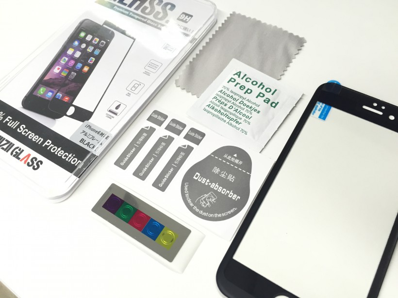 KigaruMobile「全面ガードシリーズ」3Dプレミアムアルミハイブリッド 同梱物