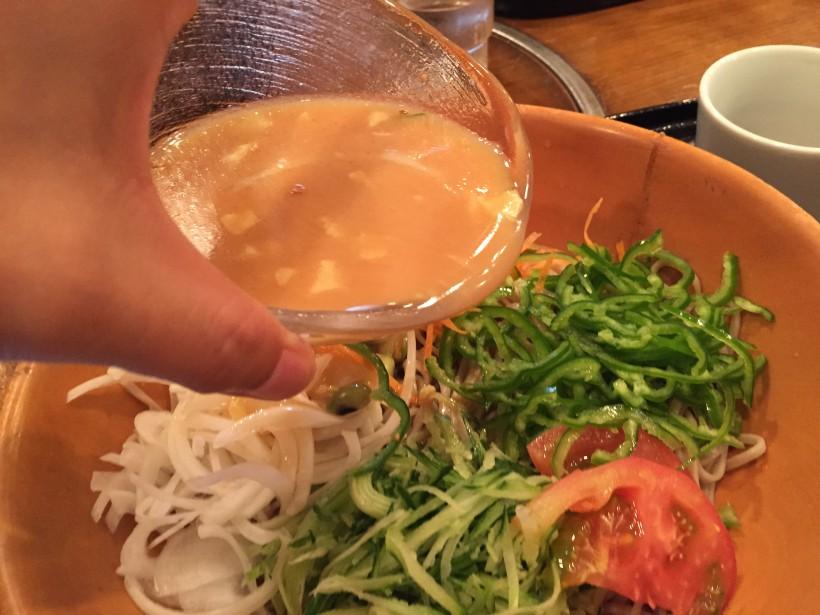 生野菜そば 出汁