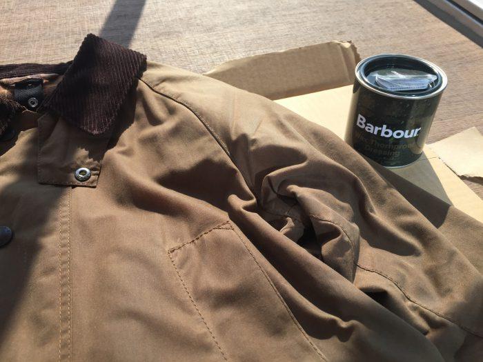 Barbour Bedale(バブアー ビデイル)のリプルーフ。夏の終わりに手塗でチャレンジしてみました。