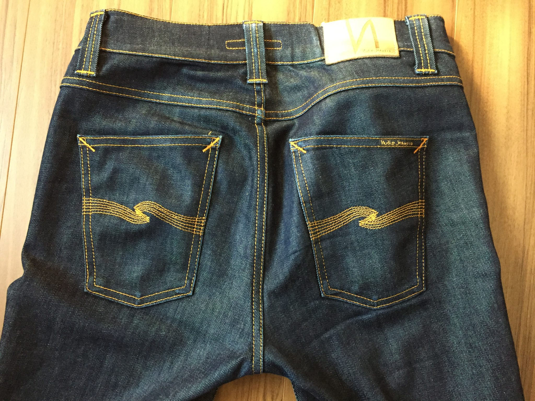 NudieJeans LeanDean Dry16Dips 88日1000時間経過~未だノンウォッシュでも色落ち穏やか。プチニューの同時期の色落ちと比較してみる。