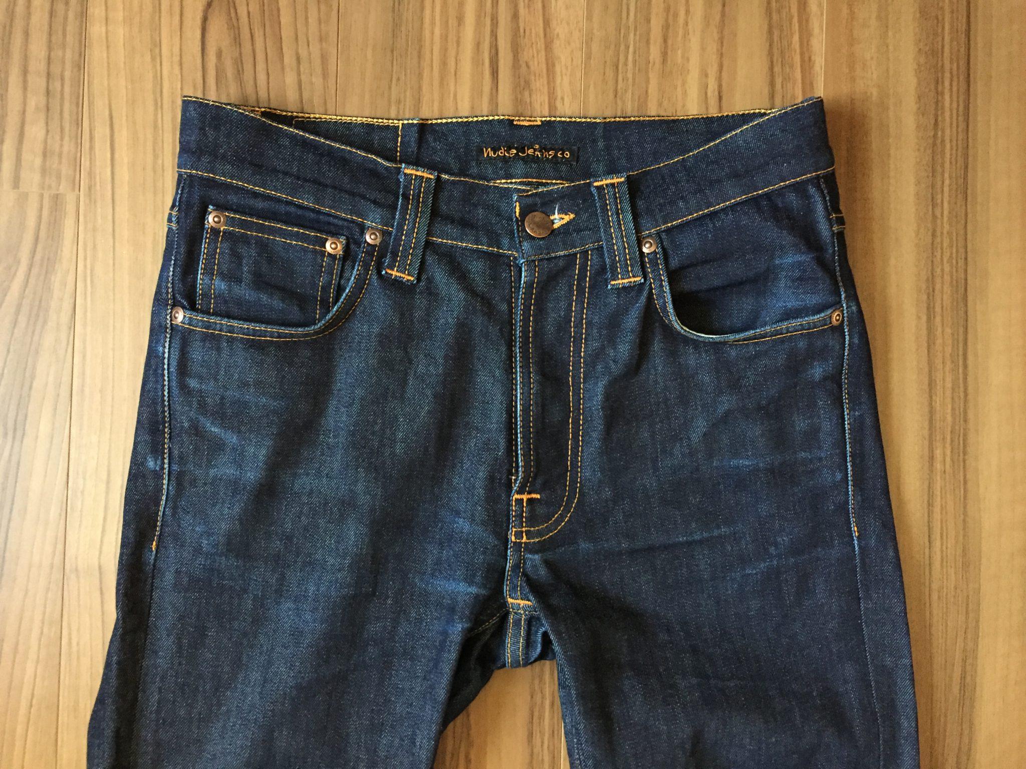 NudieJeans LeanDean Dry16Dips ファーストウォッシュ|糊を落とさず穿いてきたヌーディのリーンディーンを113日1300時間で初めて洗濯しました