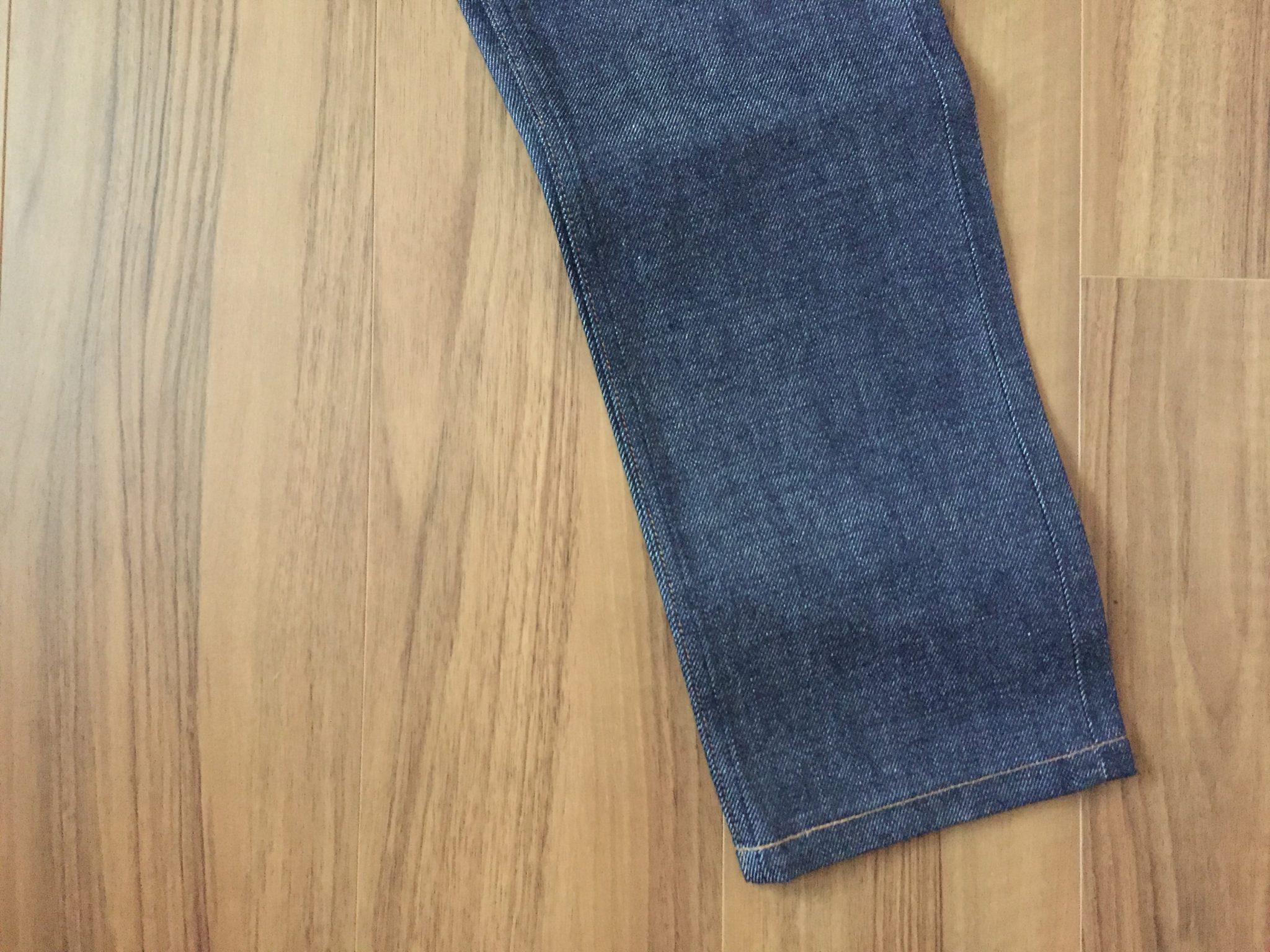 購入当初 A.P.C. Petit New Standard 穿きこむ前の裾