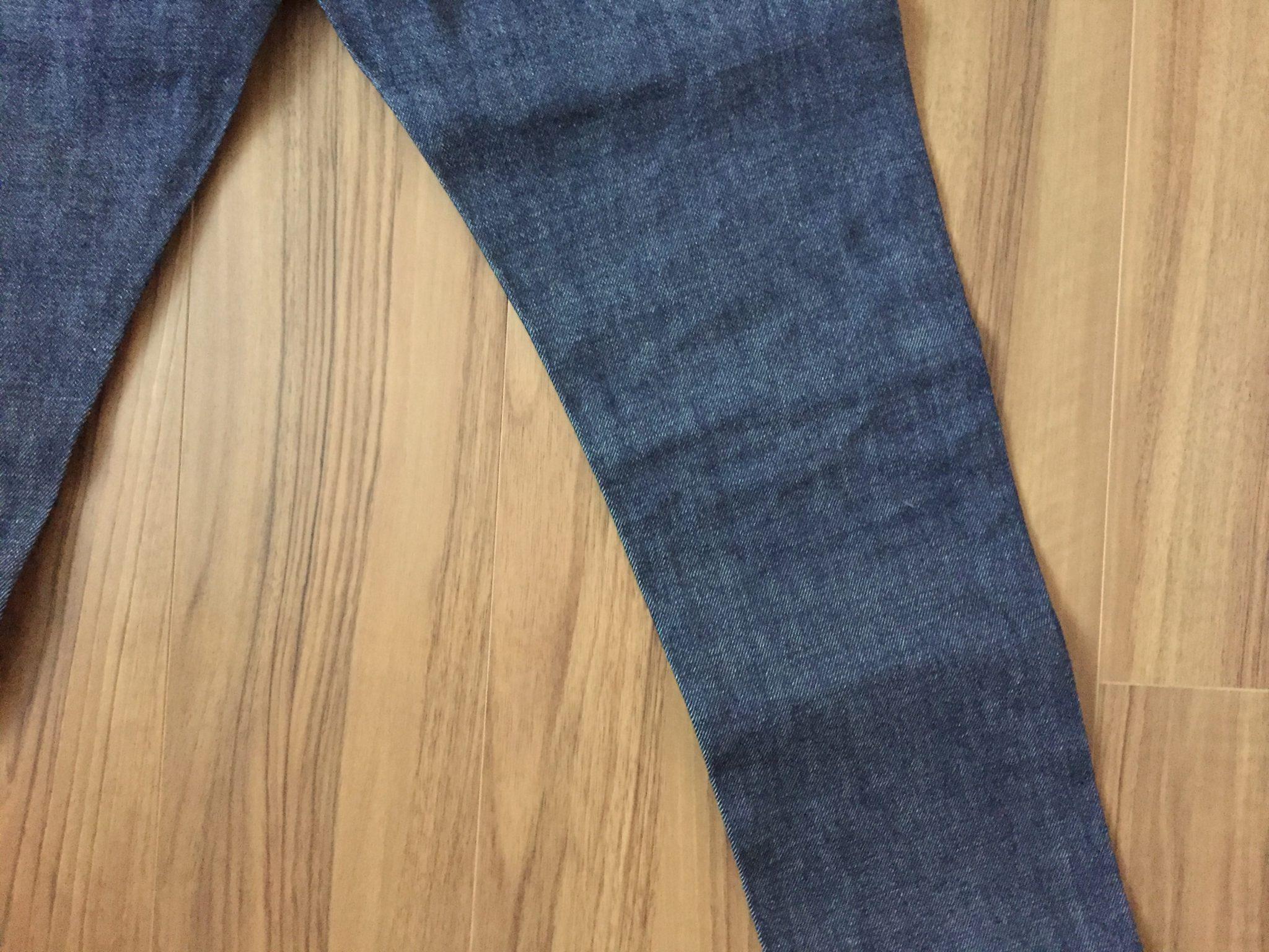 購入当初 A.P.C. Petit New Standard 穿きこむ前の膝