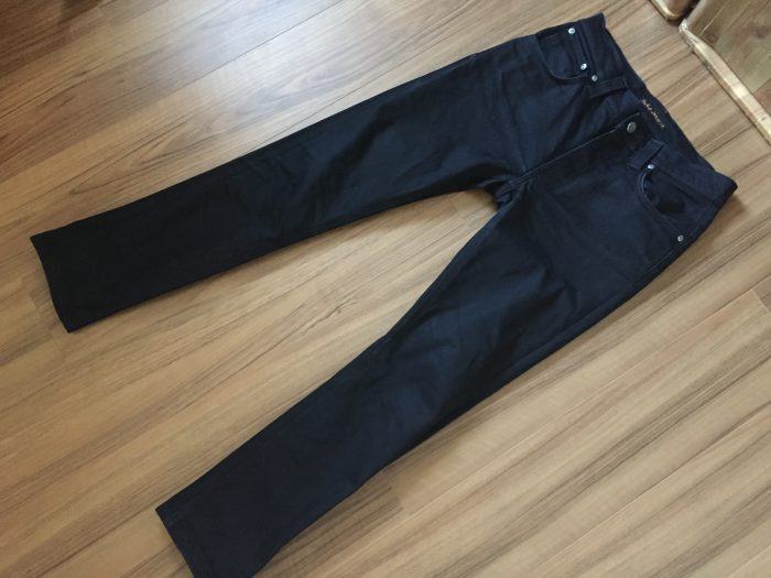 NudieJeans ThinFinn BlackRing 洗濯後の全体観