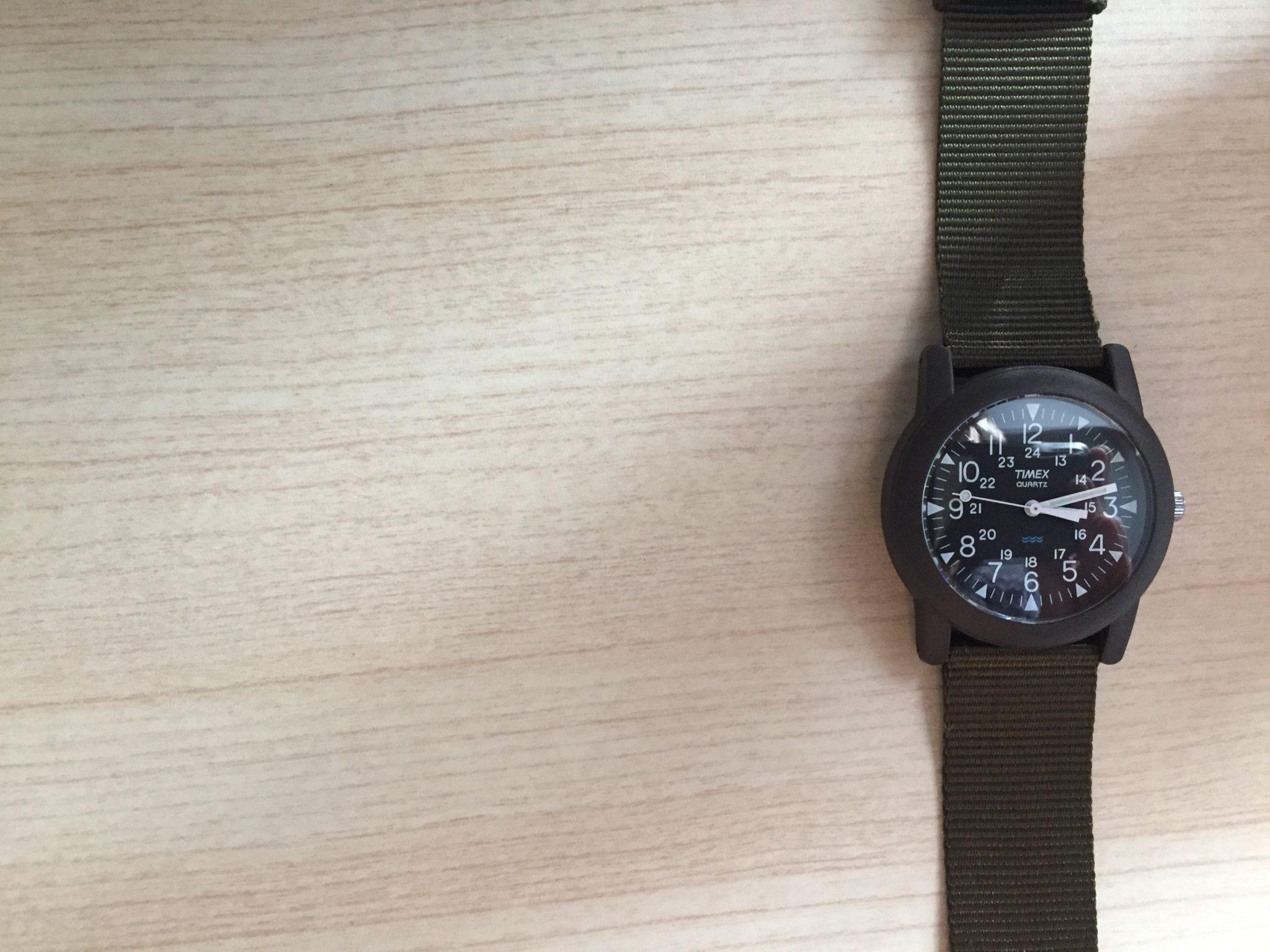 Timex Camper(タイメックス キャンパー)|チープに気軽にどこへでもつけていける2ndウォッチを購入しました