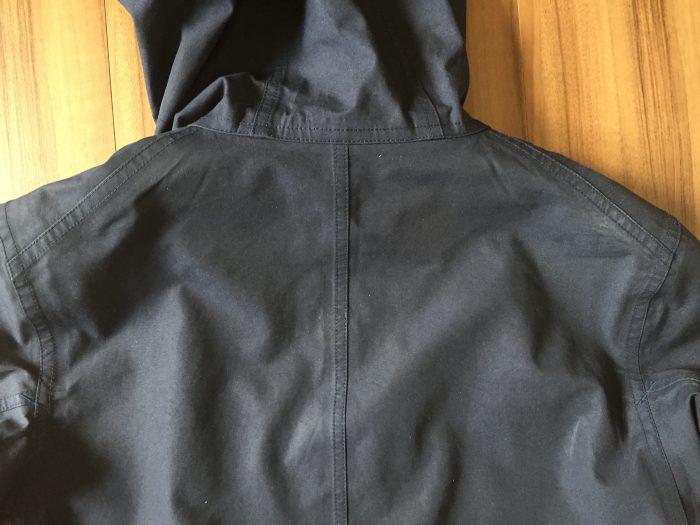 ナナミカ コットンゴア 洗濯前 背中のアタリ