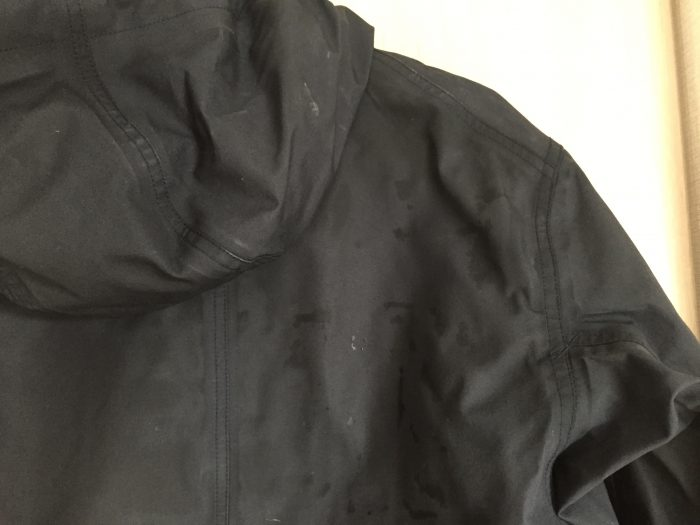 ## nanamica(ナナミカ)GORE-TEX Cruiser Jacket 洗濯 乾燥後 肩口