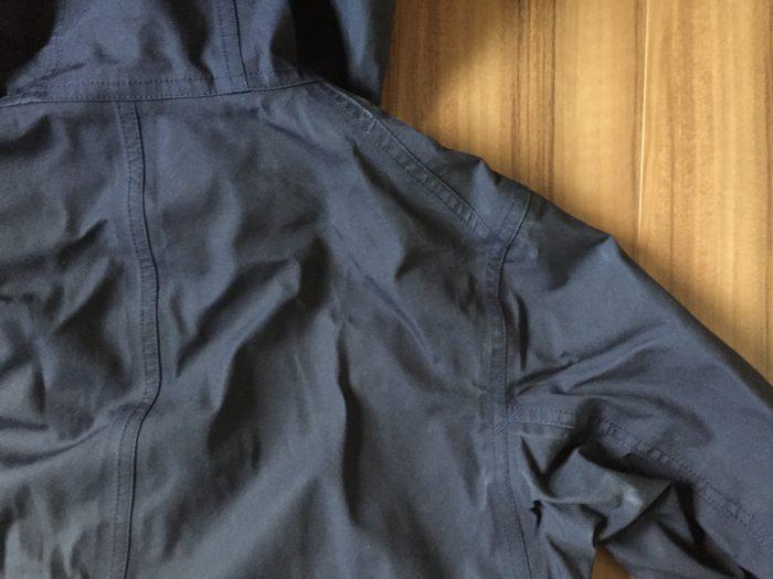 nanamica(ナナミカ)GORE-TEX Cruiser Jacket 洗濯 乾燥後 背中 肩口