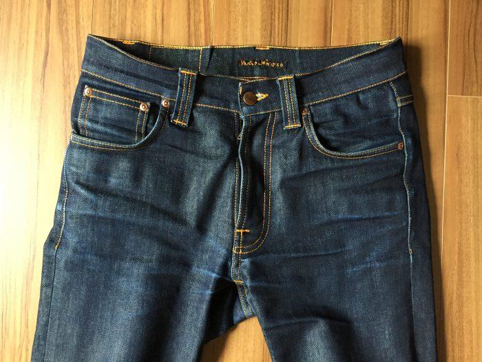 Nudie Jeans Lean Dean ヌーディ リーンディーン 洗濯 乾燥前