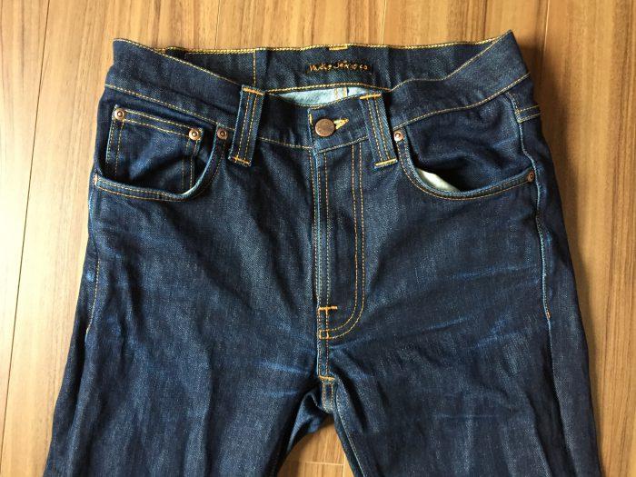 Jeans Lean Dean ヌーディ リーンディーン 洗濯 乾燥後