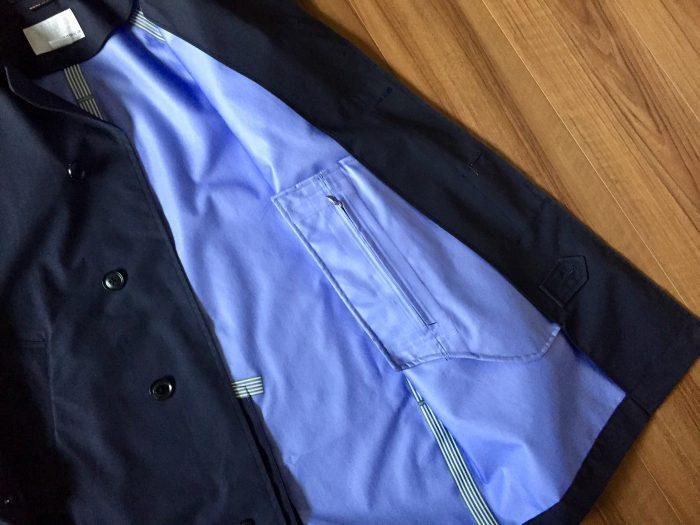 nanamica GORE-TEX Soutien Collar Coat(ナナミカ ゴアテック ステンカラーコート) 内側