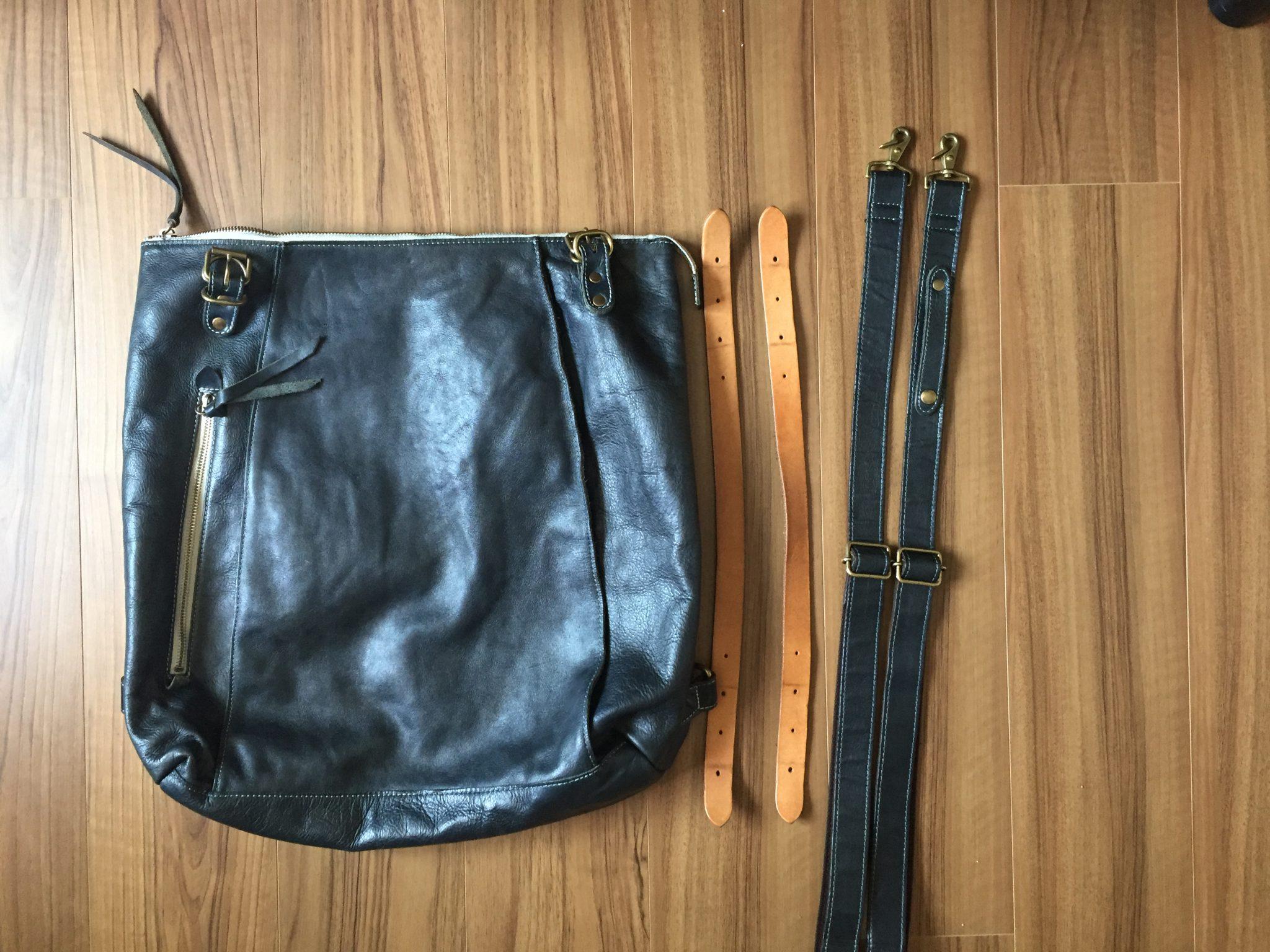 BAGGY'S ANNEX(バギーズアネックス) 3wayトート&リュック|購入して4か月、ほぼ毎日持ち歩いているので、感謝を込めてお手入れです