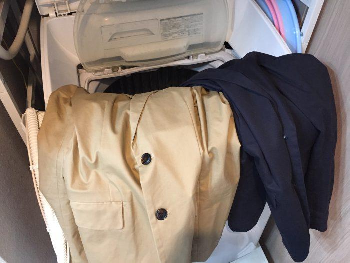 コットンチノジャケットの洗濯と乾燥