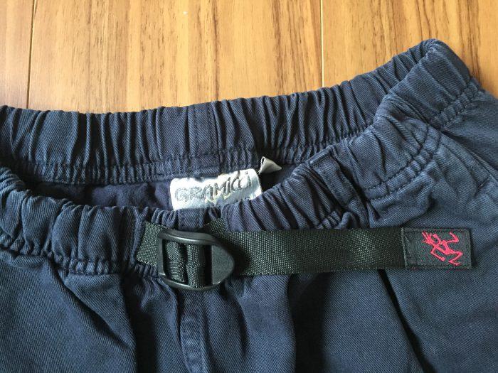 コットン100%のグラミチ Gショーツ(Gramicci G-Shorts)の魅力 ウェビングベルト