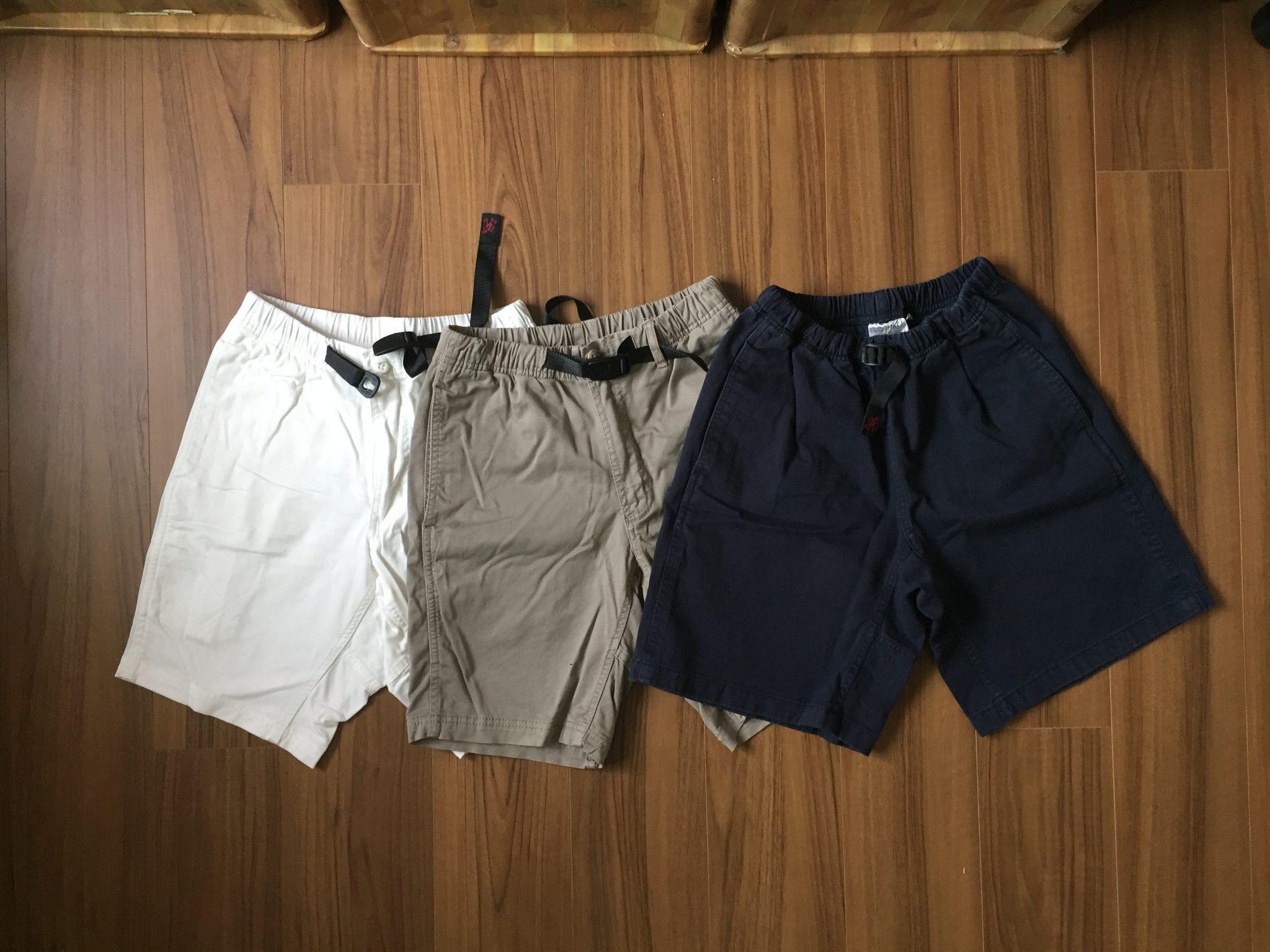 今年の短パンはグラミチ Gショーツ(Gramicci G-Shorts)~サイズ感と何よりコットン100%の天然繊維に拘って、通算3枚目でNNショーツから卒業しました