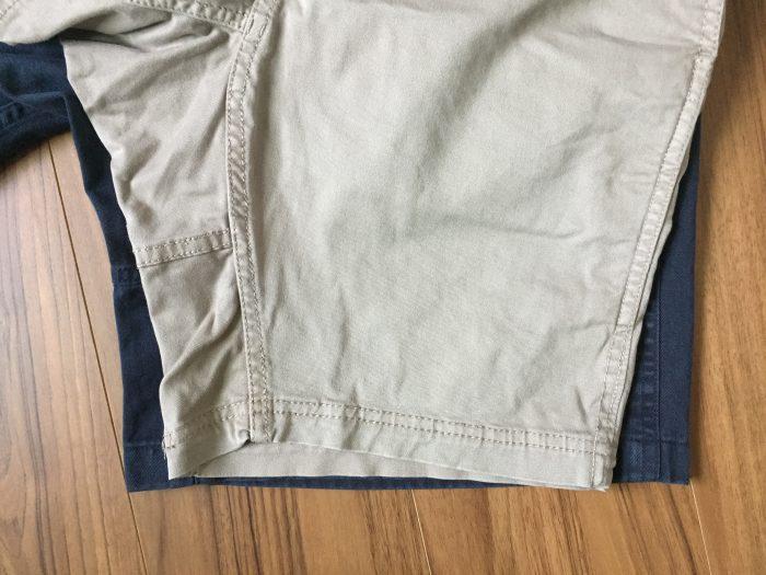 グラミチ GショーツとNNショーツの裾幅の違い