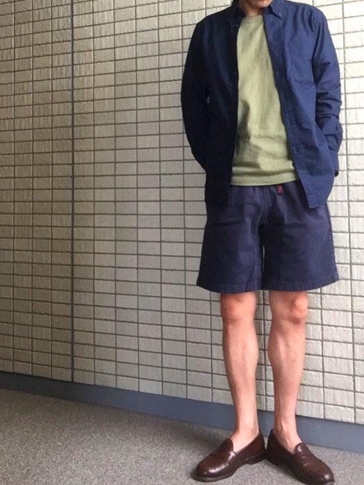 グラミチ Gショーツ(Gramicci G-Shorts) オールネイビー コーディネート
