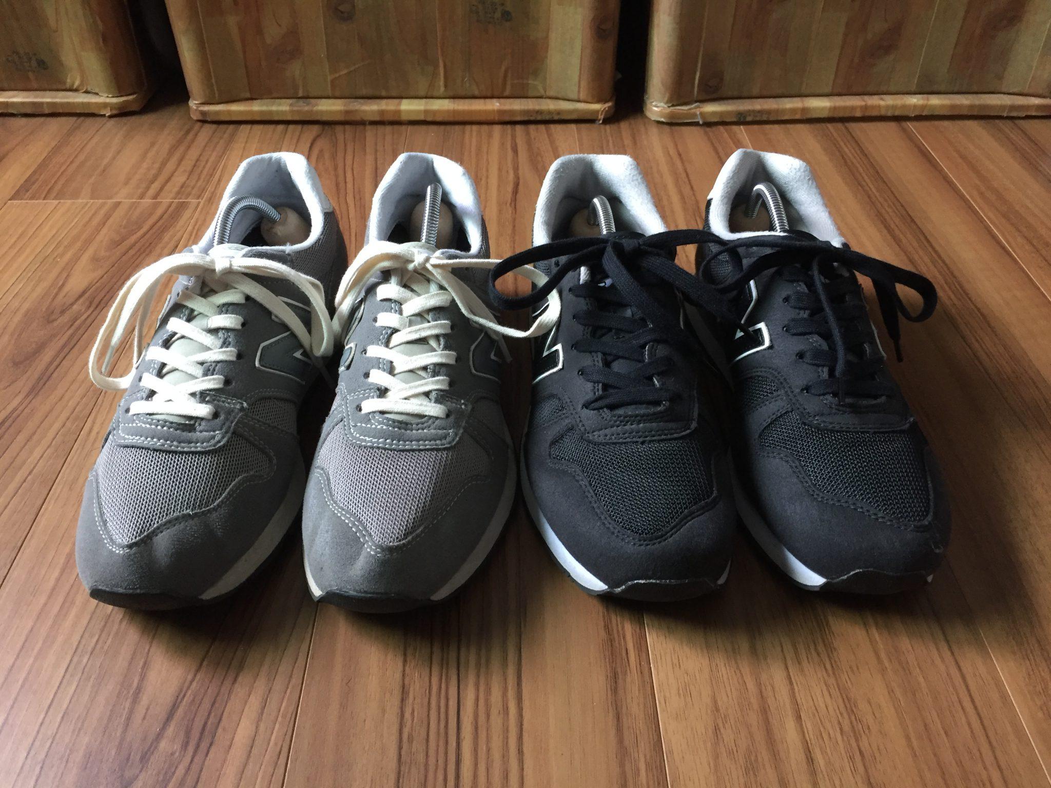ニューバランスのシューレースを素朴なコットン100%の靴紐に変えました