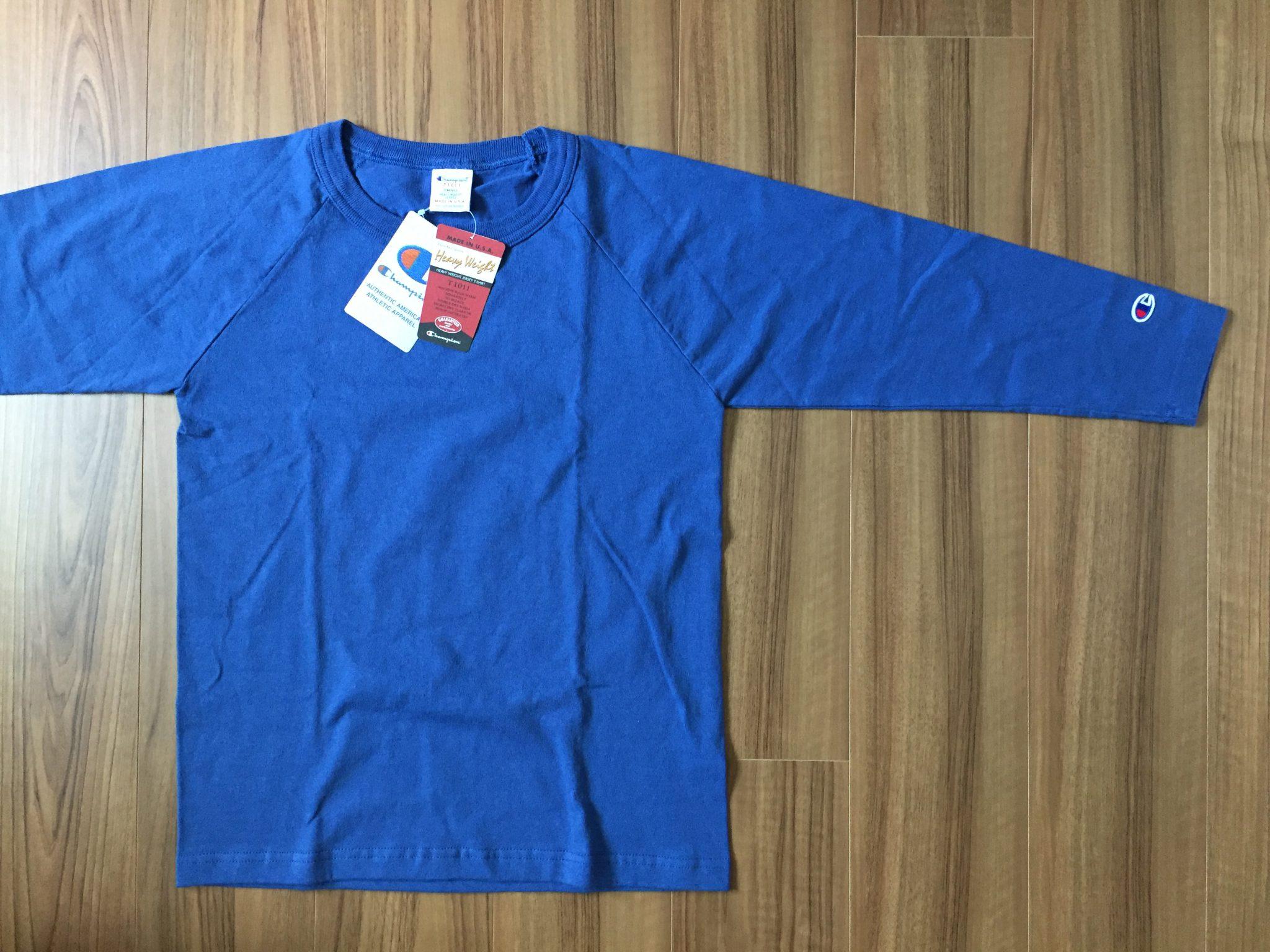 Champion(チャンピオン)T1011~10年着れる7.1ozコットンTシャツの2枚目は7分袖を購入