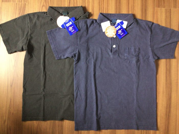 Good On ショートスリーブポロシャツ|はじめてのGood On。はじめてのピグメントダイ ネイビー ブラック Mサイズ