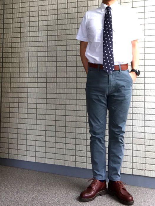 NudieJeans(ヌーディジーンズ)Slim Adam ビジネス コーディネート 着用