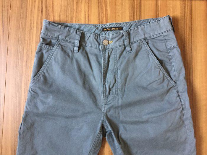 NudieJeans(ヌーディジーンズ)Slim Adam エイジング(経年変化) ウェスト ヒップ