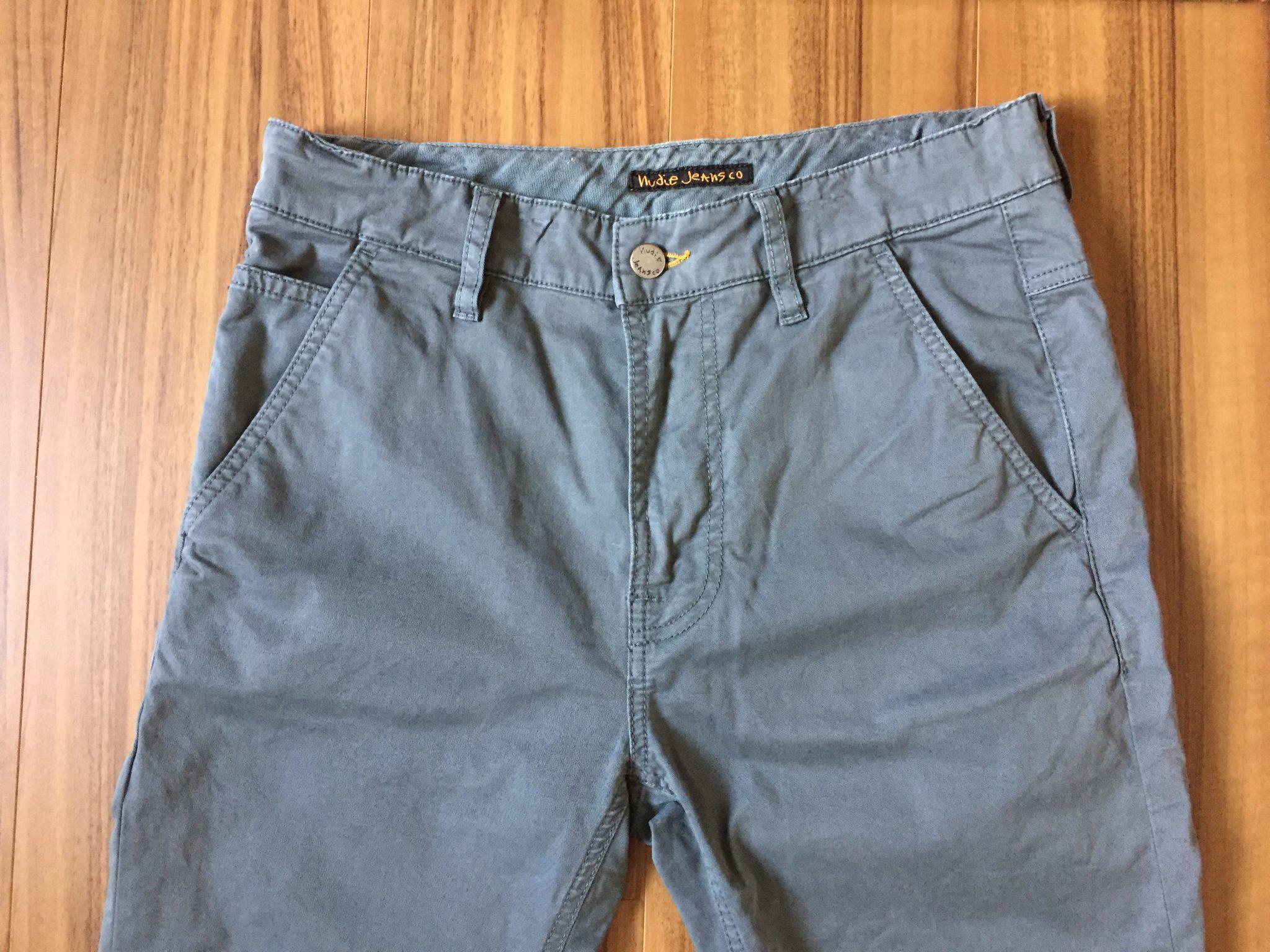 NudieJeans(ヌーディジーンズ)Slim Adam~エイジング(経年変化)で愛着が増してきたジャストサイズのチノパンです