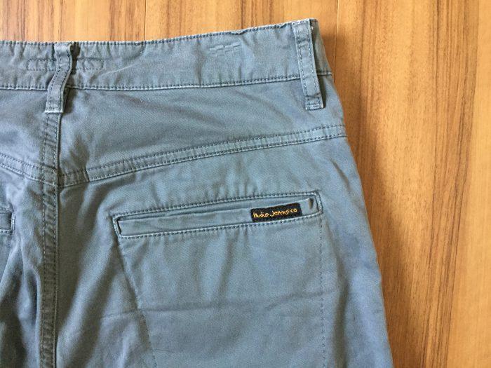 NudieJeans(ヌーディジーンズ)Slim Adam エイジング(経年変化) ヒップ ヒップポケット 両玉縁