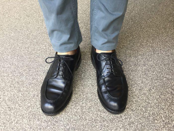 NudieJeans(ヌーディジーンズ)Slim Adam エイジング(経年変化) 足元