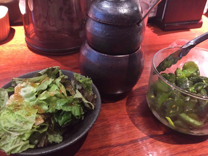 豚っく タレ サラダ きゅーちゃん