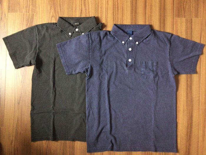 Good On ショートスリーブポロシャツ|はじめてのGood On。はじめてのピグメントダイ ネイビー ブラック Mサイズ 特徴