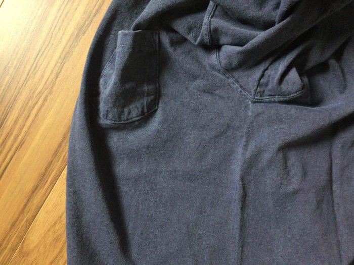 Good On ショートスリーブポロシャツ はじめてのGood On。はじめてのピグメントダイ ネイビー ブラック 丸胴編み チューブボディ