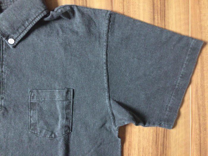 Good On ショートスリーブポロシャツ はじめてのGood On。はじめてのピグメントダイ ネイビー ブラック 袖 胸ポケット