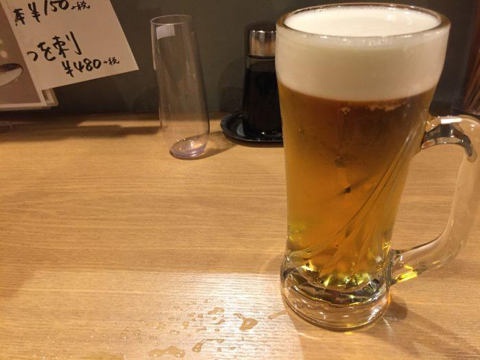 青砥 鳥新 生ビール エビス