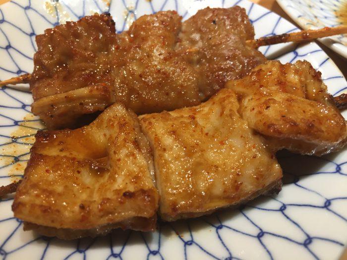 青砥 小江戸 串焼き テッポウ 辛タレ