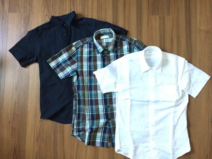 UNIQLO リネンコットン半袖シャツのラインナップ