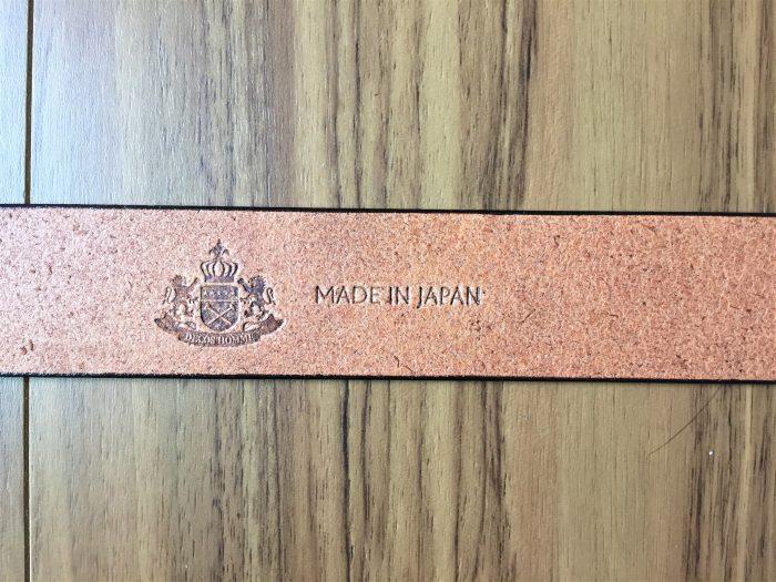栃木レザー 無段階スライド式ベルト 焼き印 メイドインジャパン