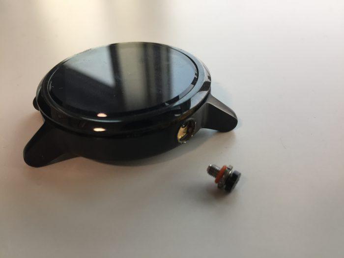 moto360 分解 バッテリー交換 フレーム 外す