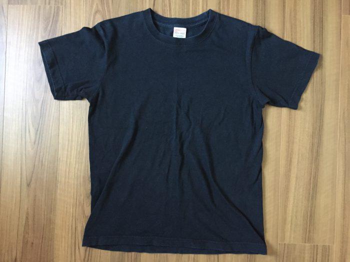ユナイテッドアスレ 6.2oz Tシャツ|ブラックのエイジングの様子