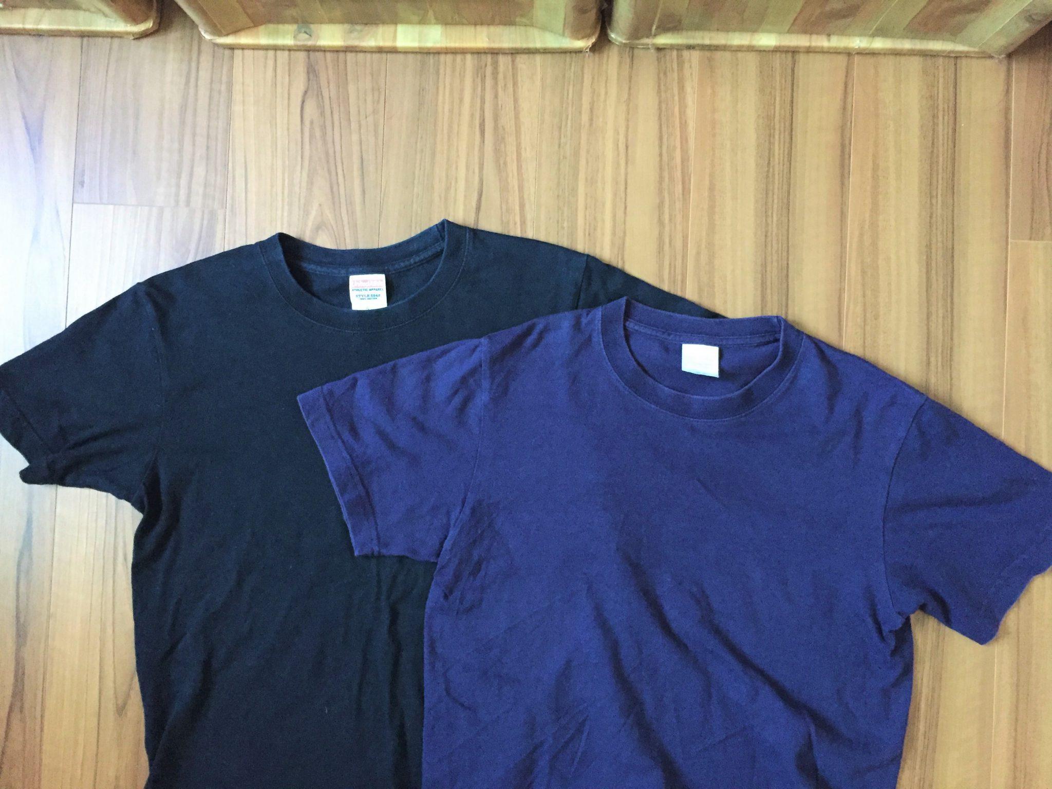 部屋着のTシャツで感じるエイジング(経年変化)の美しさ~5年モノのUnitedAthle(ユナイテッドアスレ)6.2oz Tシャツ