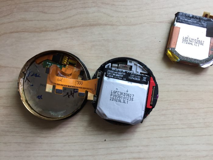 moto360(2nd Gen) バッテリー交換 完了 手順
