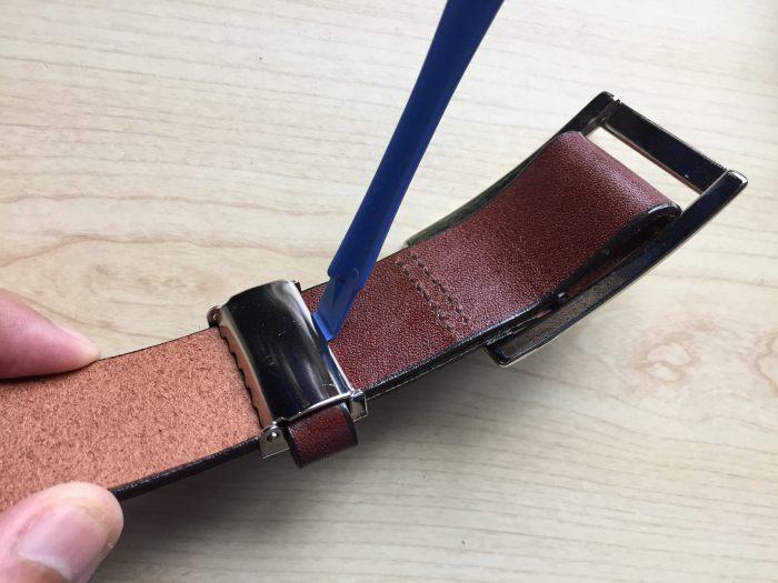 栃木レザー 無段階スライド式ベルト 遊革 分解