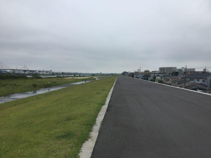 ランニングコース 荒川 四ツ木橋緑地