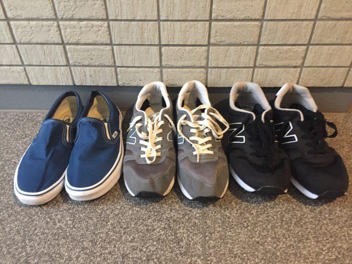 スニーカーの洗濯方法~Newbalance(ニューバランス)とVansのスリッポン 外干し