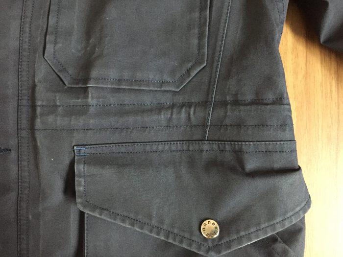 nanamica(ナナミカ)GORE-TEX Cruiser Jacket 2年目のエイジング(経年変化)の記録 ポケット ドローコード