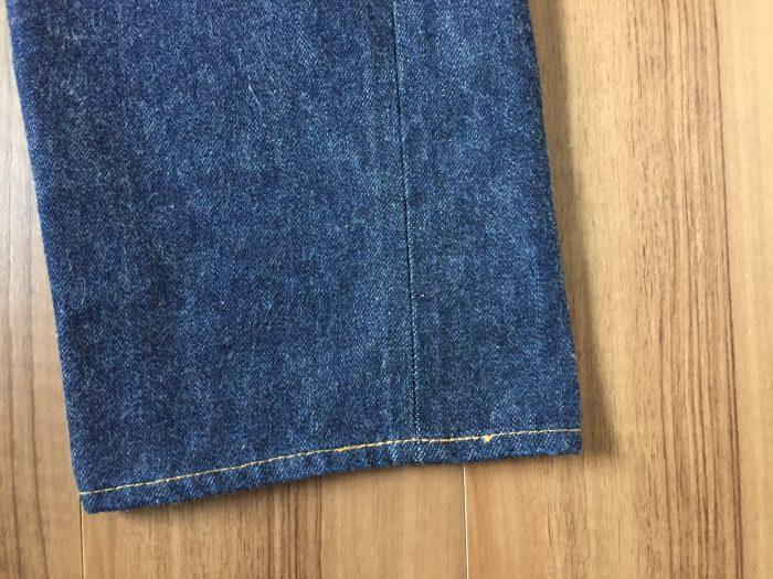 Resolute 710(リゾルト 710) 3回目の洗濯前 裾(スソ)